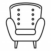 Comfort Armchair Icon. Outline Comfort Armchair Vector Icon For Web Design Isolated On White Backgro poster
