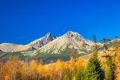 Lomnica Peak In Autumn Season. The Second Highest Peak Of The High Tatras Mountains Of Slovakia, Eur poster