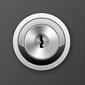 Modern Keyhole - Door Lock Icon, Flat Key Hole, Bank Cell Access Concept poster