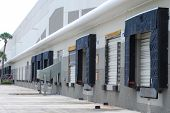 picture of delivery-truck  - Shipping and Receiving loading docks that are empty - JPG