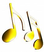 Gold music notes