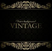 image of gold  - Vintage vector background  With decorative ornamental elements - JPG