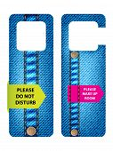Постер, плакат: Отель Do не беспокоить двери вешалка с специальным джинсы дизайн