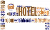 hotel pictogram word cloud