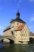 picture of regnitz  - Old Town Hall in Bamberg Bavaria Germany - JPG
