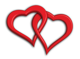 picture of valentine heart  - two hearts intertwined  - JPG