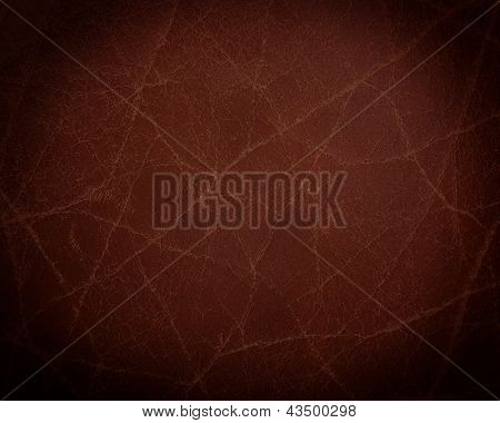 dark brown leather texture closeup. Useful as background for design-works.