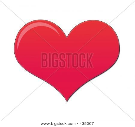 Bright Pink Love Heart