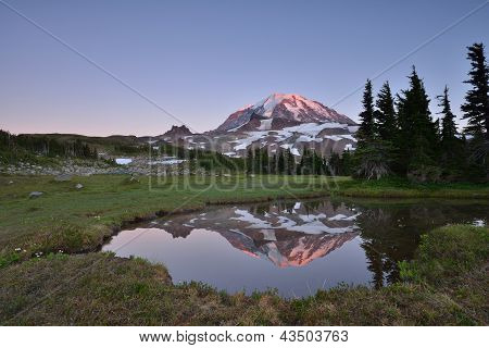 Sunset at Spray Park, Mt Rainier National Park