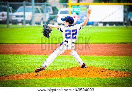 Youth Baseball Pitcher