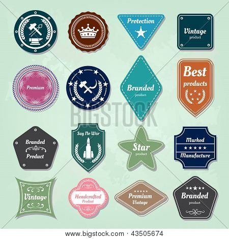 Set Of  Badges And Labels Logo