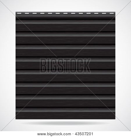 Siding Texture Panel Black Color