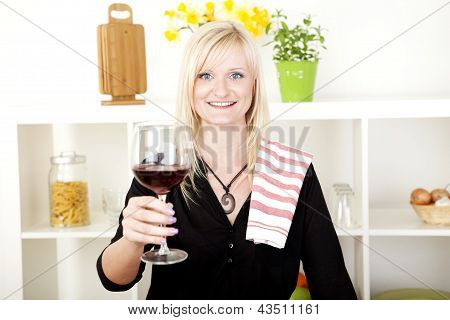 Elegant Woman Making A Toast