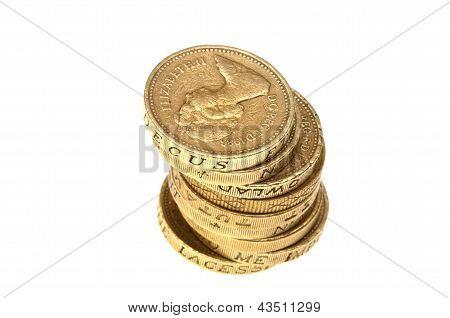 Pound coins stack