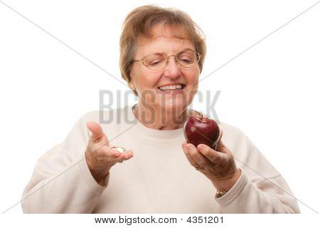 Happy Attractive Senior Woman