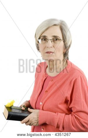 Mature Woman With Book