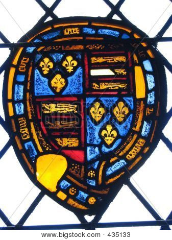 Winchester Stained Glass Window Shield