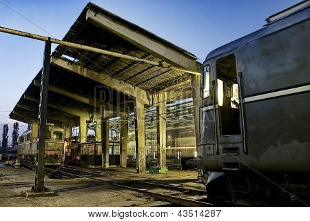 Train Depot With Trains