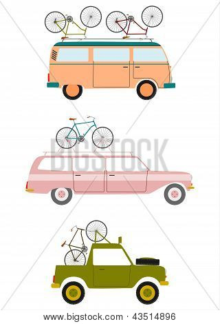 Cars Transporting Bicycles.