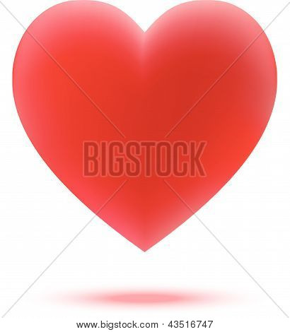 Illustration with a red valentine heart