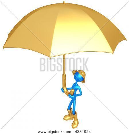 Holding Giant Umbrella