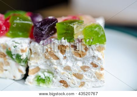 Nougat With Marmalade And Nuts