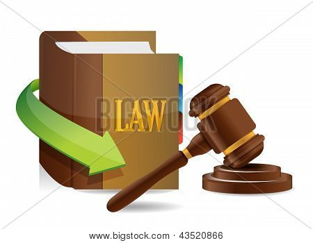 Legislation Concept. Balance And Book