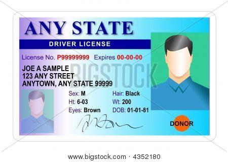 Driver License Card