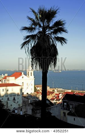 Portugal, Lisbon: Church Near The Taje River