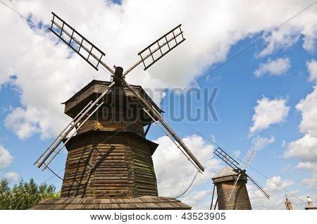 Wooden windmill ??in Russian style