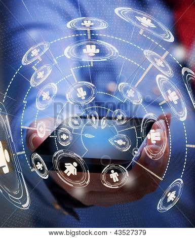Accessing Business Network With Smartphone