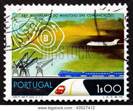 Postage Stamp Portugal 1973 Transportation, Weather Map
