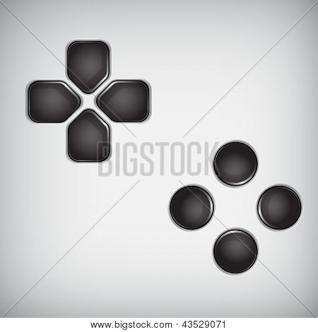 Black Joystick Buttons