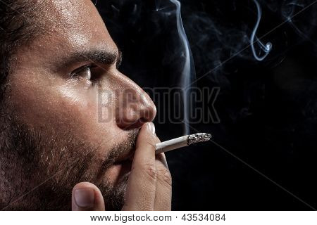 Worried And Smoking