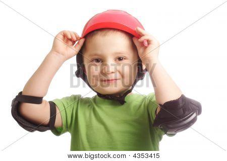 Cute Boy In Protective Wear