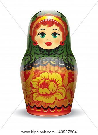 matrioshka Russian toys.