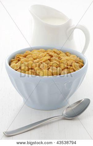 Delicious Corn Flake Breakfast
