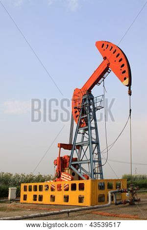 Petroleum mining machinery In Working