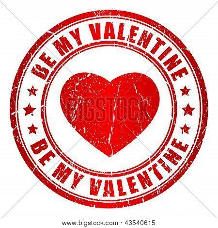 Be my valentine vector stamp