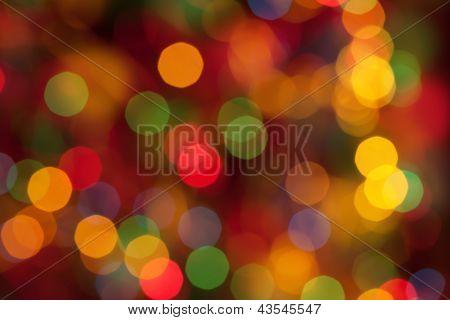 Bokeh Background Of Christmaslight