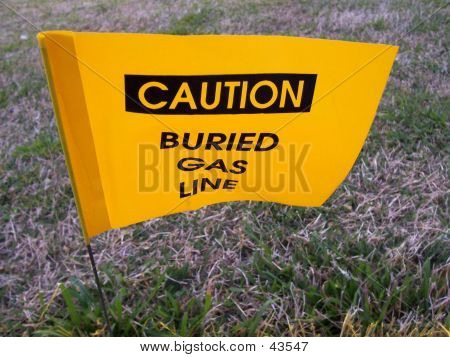 Warning-Buried Gas Line