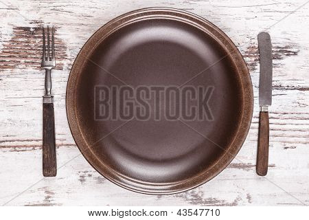 Gastronomy Background With Copy Space.
