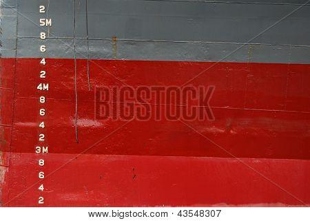 Water Depth Markings on Ship Hull
