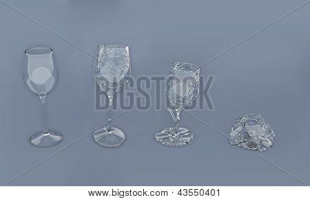 Breaking Glass Slow Motion