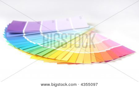 Bright Colorful Paint Swatch Samples For Remodeling