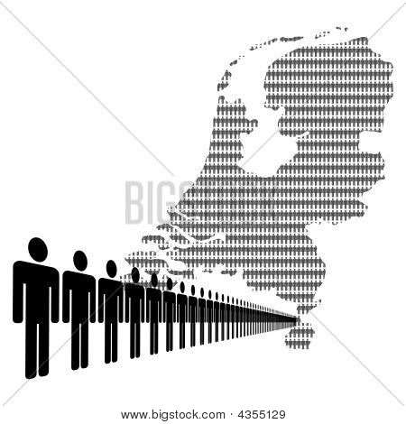 Dutch Workforce With Map