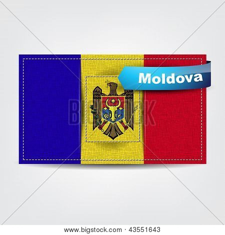 Fabric Texture Of The Flag Of Moldova
