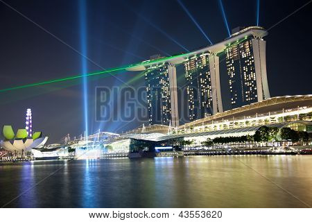 Marina Bay Laser Show In Singapore