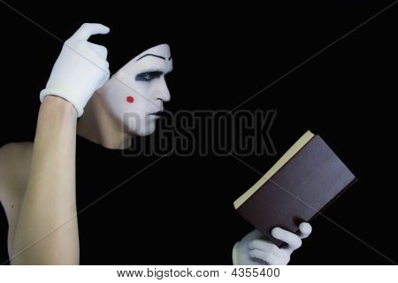 Reading Mime With The Book