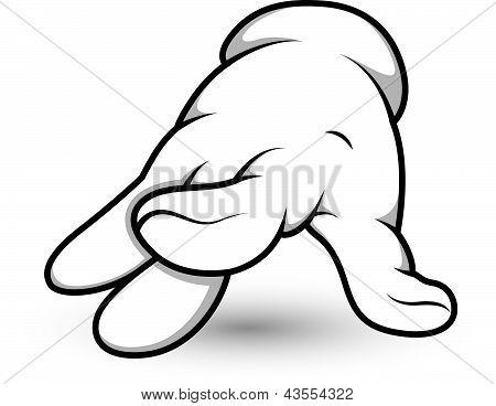 Cartoon Hand - Finger - Vector Illustration